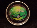 Beetle green, pop-art