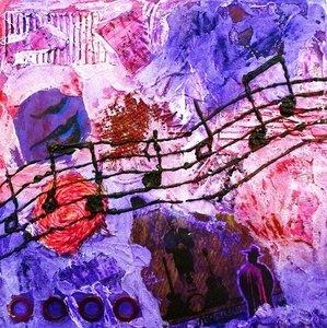 "Acrylverf schilderij ""Music"""
